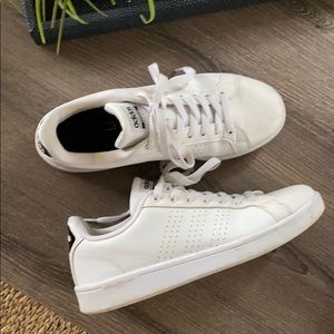 Adidas cloud foam white sneakers size 9